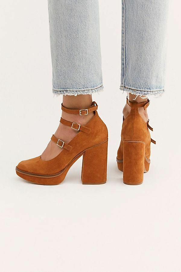 Free People NIB Dimensione Euro 37 - US  7 Suede Perfect Pair Platform Heels Nuove scarpe  prodotti creativi