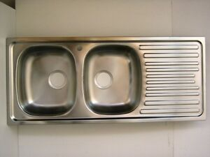 Vasca Da Cucina : Lavello da cucina vasche gocciolatoio sgocciolatoio acciaio inox