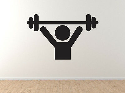 Fitness Gym Art #5 - Muscle Man Lifter Strongman  -Vinyl Wall Decal