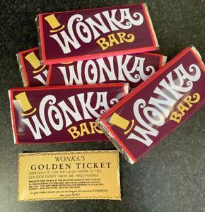 Details About 10x Willy Wonka Chocolate Big Bar 100ggift Novelty Golden Ticket Inside Children