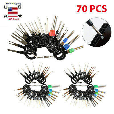 26//70pc Set Pin Ejector Wire Kit Extractor 70Pcs Auto Terminal Removal Connector