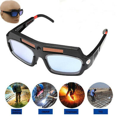 Solar Powered Auto Darkening Welding Glasses Mask Helmet Eyes Goggle Anti-UV