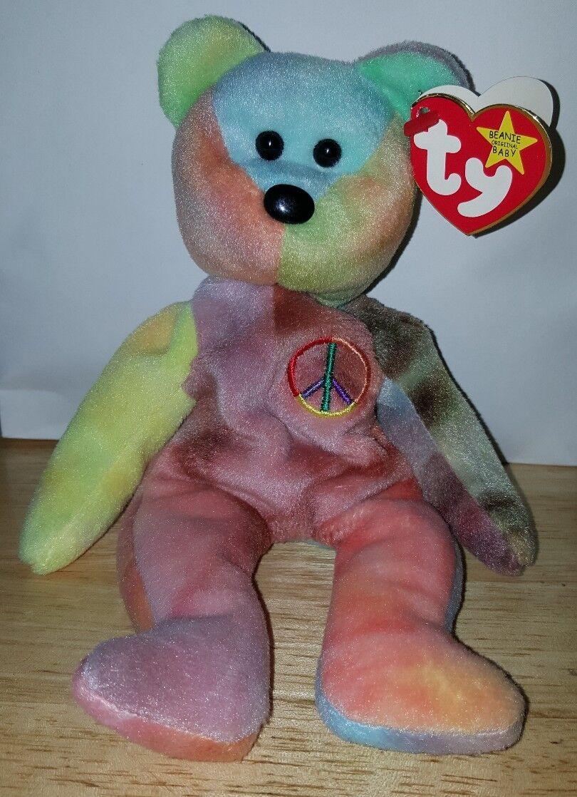selten 1 eine art  1996 ty beanie baby frieden tragen sammlerstück mit tag - fehler