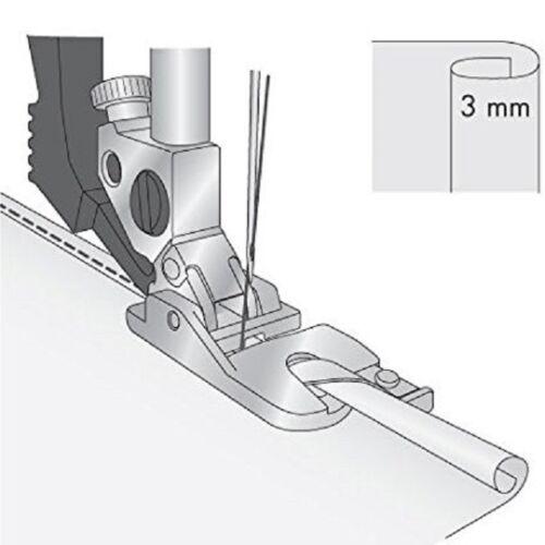 Dobladillado Pie Snap en con IDT se ajusta Pfaff Máquina de Coser 3MM #820220-096
