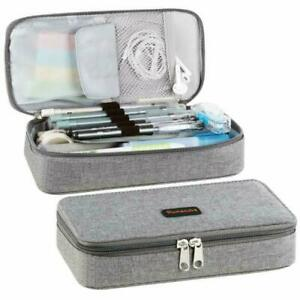 a455477c8ed8 Details about Pencil Case Big Capacity Storage Oxford Cloth Bag Holder Desk  Pen Pencil Marker