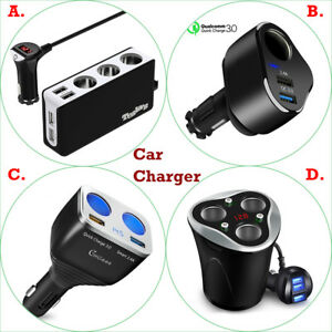 Image Is Loading Car Charger Splitter Cigarette Lighter Adapter Usb Charging