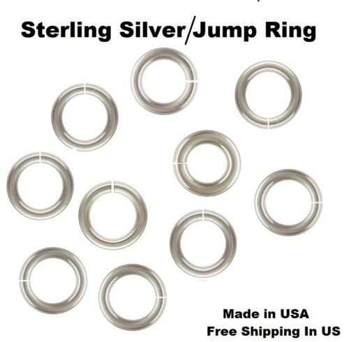 SAW- CUT Choose  Size /& Quantity 14 Ga Heavy Sterling Silver Jump Ring
