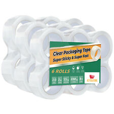 6 12 18 24 36 72 Rolls 2 Mil 2 Inch X 55 Yards Clear Packing Carton Sealing Tape