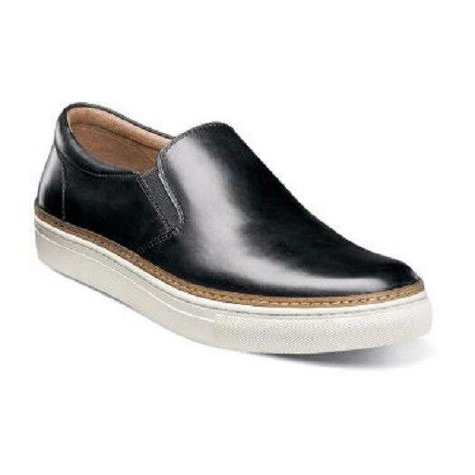 Florsheim Pivot Toe Llano Sin Cordones Hombre Zapatos Negro Cuero Slip On 15137-001