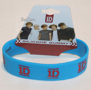 NEW-One-Direction-1D-Logo-Rubber-Bracelet-Authentic-Licensed-Jewelry-BLUE-RED