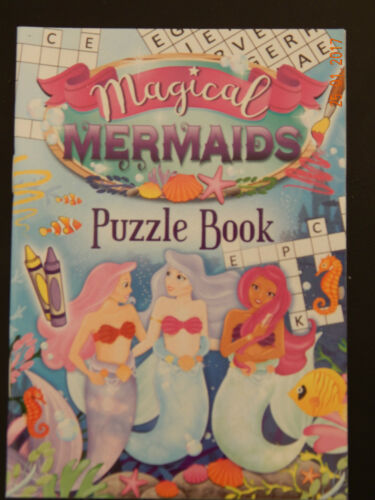 20 MAGICAL MERMAIDS Puzzle Books Small Loot//Party Bag Fillers Kids A6 Size