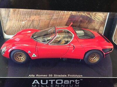 AUTO Art ALFA ROMEO 33 STRADALE PROTOTYPE 1967 RED AUTOART 1:18 1/18  #70191