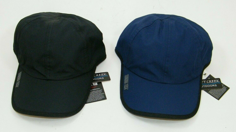 (2) NEW! DRIFT CREEK OUTDOORS TUNDRA TECH COHO CAPS / HATS BLACK / BLUE