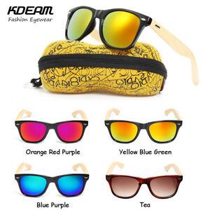 5714d584a35 KDEAM Men Women UV400 Bamboo Wooden Wood Sunglasses Retro Vintage ...