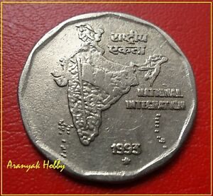 RARE DOUBLE DIE in RARE YEAR ( 1993 ) COIN ! 5 RS 1993 ...