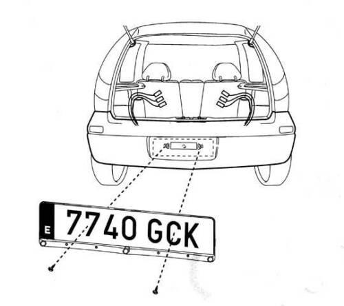 Einparkhilfe im Kennzeichen Nummernschild Halterung Rückfahrwarner Funk kabellos