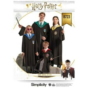 Simplicity-Sewing-Pattern-8723-Harry-Potter-Hogwarts-Robes-Costume-XS-XL