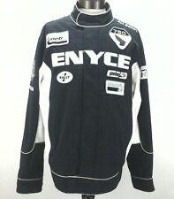 ENYCE RACING Mens Moto JACKET Black/White Metro RALLY SPEEDWAY XL VINTAGE Nice!!