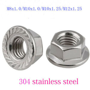 Nut Non Serrated 12mm M12 Stainless Steel Flange Nuts A2