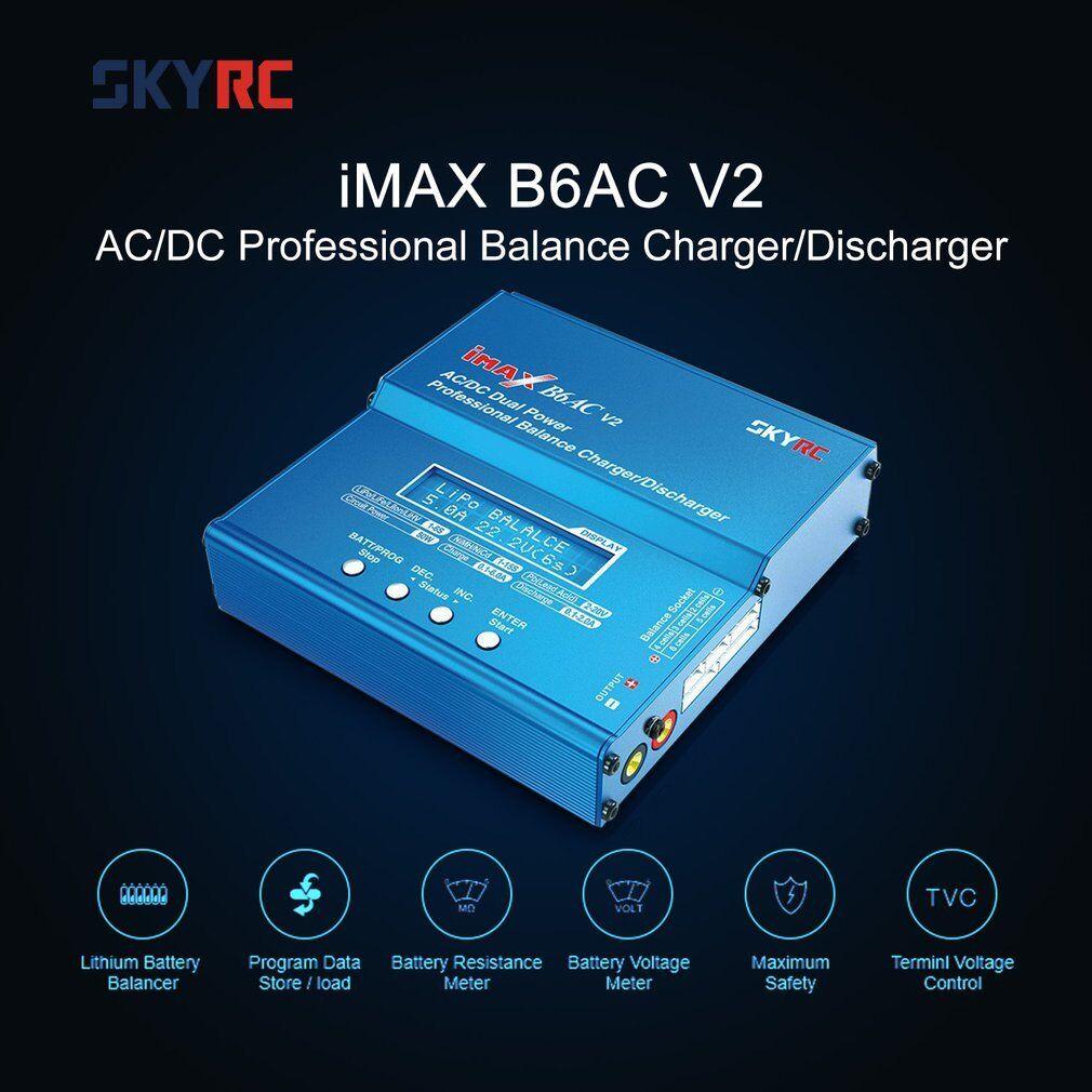 SKYRC iMAX B6AC V2 6A AC DC Lipo NiMH Battery LCD Display Balance Charger W