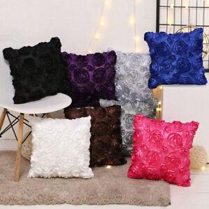 Image Is Loading 2pcs Luxury Rose Fl Cushion Covers Set