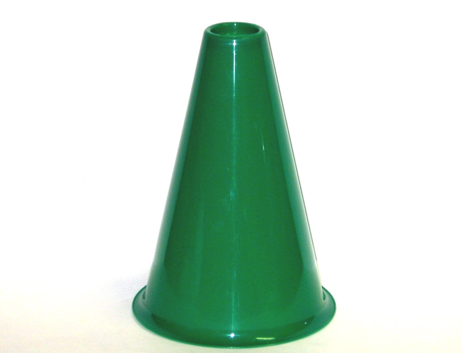 10 Green Megaphones-Cheer Leading, 8 Inches Tall, Mfg. USA, Durable, Lead Free
