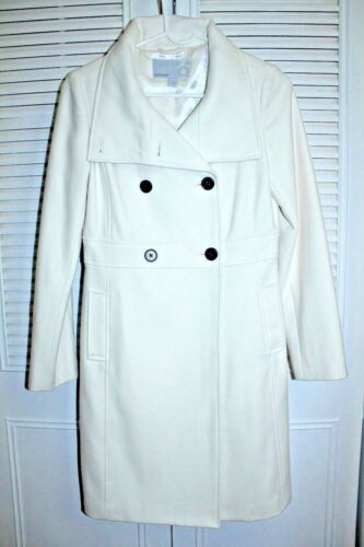 I Double Blend Old Navy Peacoat breasted Wool Sz Ivory Nwot Small Women's xAX8wH6q