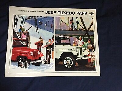 1963 1964 1965 Kaiser Willys Jeep Wagoneer Color Brochure Catalog Prospekt
