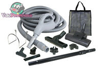 35' Low Voltage Central Vacuum Kit W/air Driven Power Nozzle & Tools Nutone Beam