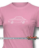 Renault Dauphine Ondine Kilowatt Women T-shirt - Multiple Colors And Sizes