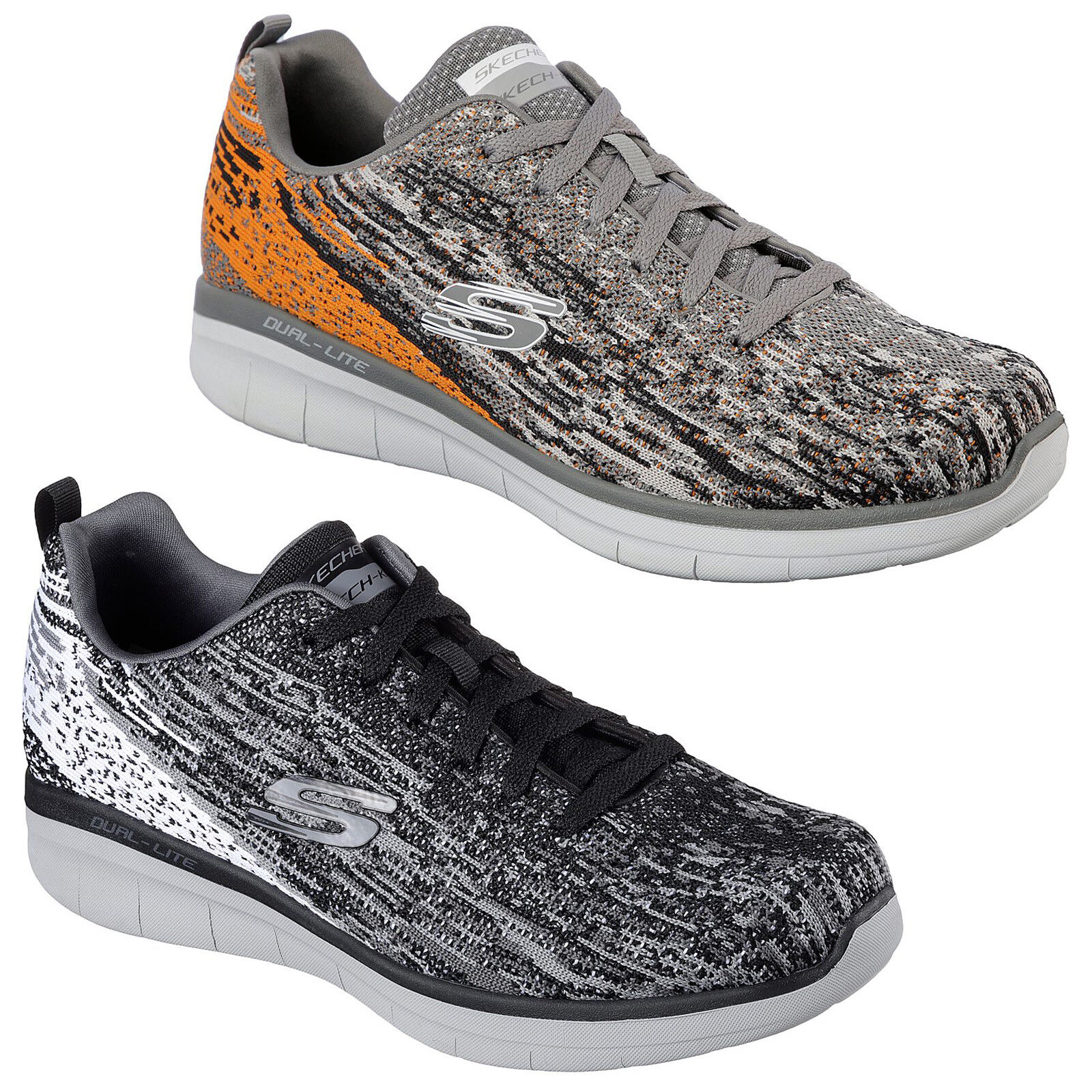 Skechers Synergy 2.0 Trainers Mens Memory Foam Knit Mesh Sports Fashion schuhe