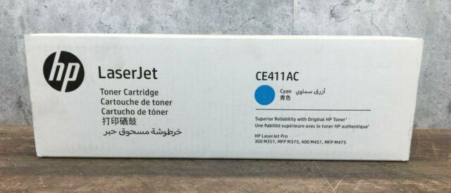 Genuine HP LaserJet Pro Cyan Toner Cartridge CE411AC New in Sealed Box