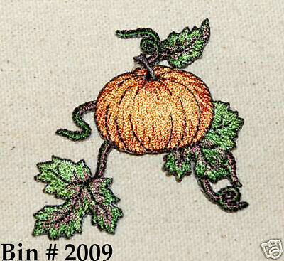 1PC~BLUE AUTUMN LEAF~IRON ON EMBROIDERED APPLIQUE