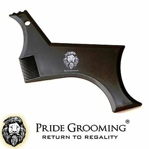 PRIDE-GROOMING-Beard-Styling-Shaping-Template-Comb-Barber-Tool-Symmetry-Shaper