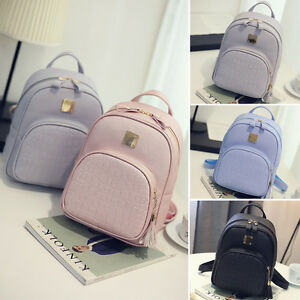 428d54d4c Lady PU Leather Shoulder School Bags Travel Backpack Rucksack Women ...