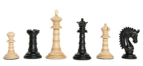 USCF Sales The Bomarzo Luxury Chess Set - Pieces Only - 4.4  King - Genuine Ebon