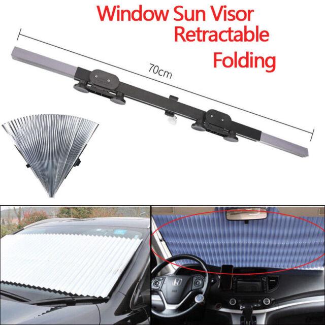 Car Retractable Window Windshield Sun Shade Visor Folding Auto Block Cover  Silve 8d8ee320df7