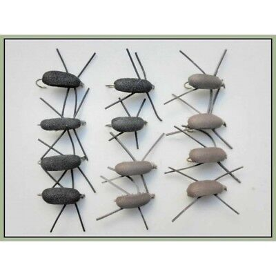 12 Pack Brown Gum Beetle Fishing Flies Mixed 10//12//14 Beetles Trout Flies