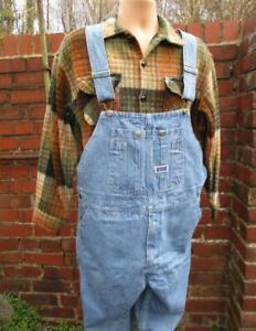 Diligent W42-vintage Années 90 Big Smith Homme Bib Brace Overalls Dungarees Usa Workwear L978-afficher Le Titre D'origine