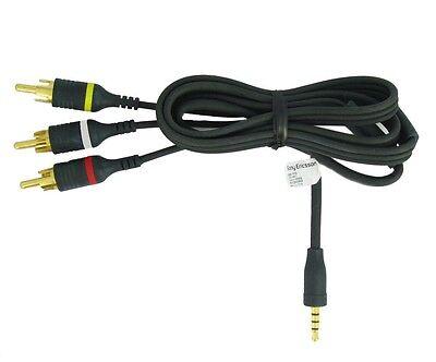 Genuine Sony Video Camcorder Cable 3.5mm 4 pole Phono Audio Composite AV Lead