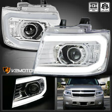 For 2007 2013 Chevy Avalanche Tahoe Suburban Led Strip Tube Projector Headlights Fits 2007 Chevrolet Suburban 1500