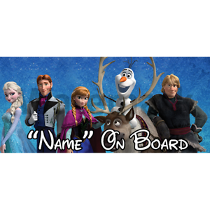 Disney Frozen Personalised Baby On Board Car Sign 5