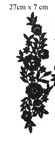 #18-#25 1 x Floral lace Applique decorative sewing lace motifs Gold Black