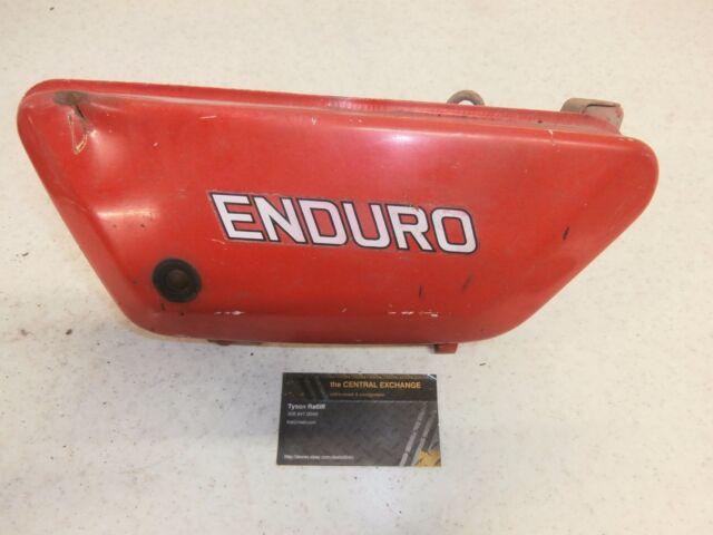 76 Yamaha DT 125 DT125 Genuine Vintage Engine Motor Oil Tank Reservoir Orange OE