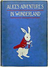 1907 First ALICE IN WONDERLAND Edition ALICE'S Adventures LEWIS CARROLL Antique
