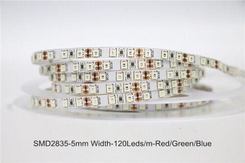 5m led strip 120LED//M SMD 2835 600 LEDs Strip DC 12V 5mm PCB Super Bright tape