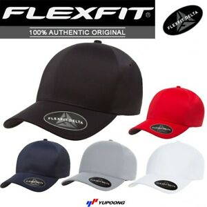 Flexfit® 180 Delta Mid Profile Fitted Baseball Blank Plain Hat Ball ... babb0c5bb0