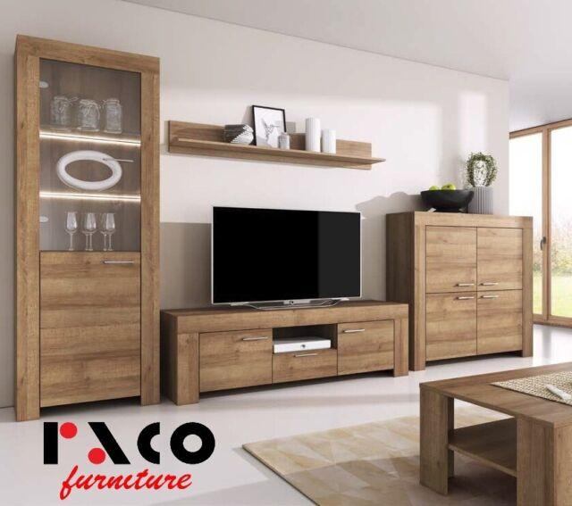 TV Wall Unit SKY New Modern Set of Living room Furniture