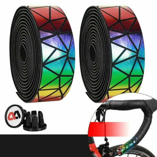 Details about  /Bicycle Handlebar Tape Road Bike Colorful Straps Shock Absorption Anti-Skid