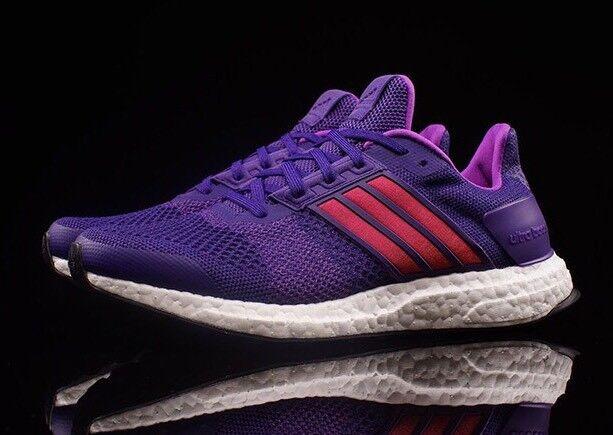 Adidas Ultra Boost ST Primknit Purple White Women's Sz 9.5 Running Shoes